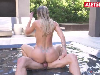 DoeProjects – Jessa Rhodes Large Titties American Slut Hardcore Pussy Fuck By means of The Pool