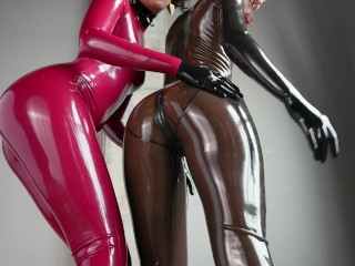 Simply 2 women taking part in with their latex asses