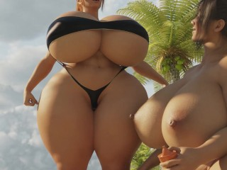 Summer season Giantess Enlargement