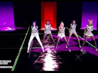 [MMD] ITZY – WANNABE Attractive Kpop Dance KDA Ahri Akali Kaisa Seraphine Evelynn