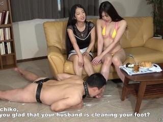 Jap Lesbian Cuckolds His Spouse