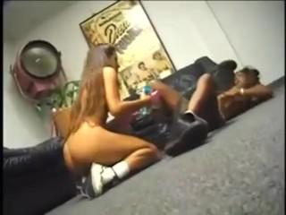 Horny lesbian eats immediately ebony's pussy
