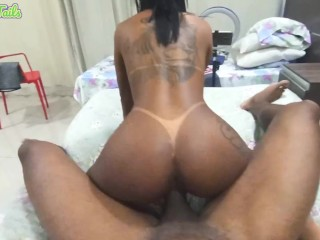 Teenager Local Brazilian Jungle Woman 18 Tattooed and Tan Traces Loves Sucking And Fucking American Man