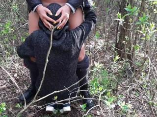 Наш секс в лесу сняла на камеру подруга, которая нас случайно застукала – lesbian_illusion