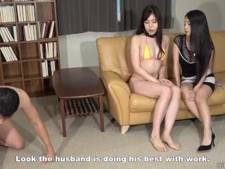 A masochistic husband whose spouse is cuckolded via a girl