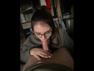 My spouse makes me cum in her mouth