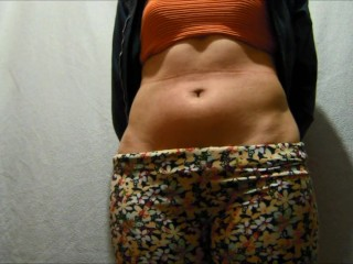 Lashes within the abdominal of my lover, my spouse data us and will get excited navel