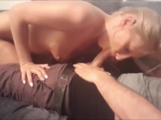 Brunette suck and trip with hobby