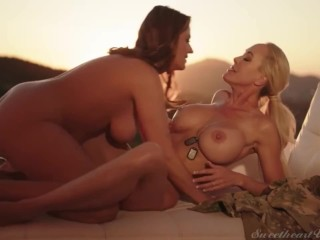 Passionate lesbians can't wait to have intercourse (nice kissing)