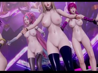 [MMD] Two times- Extra & Extra StripVers. Ahri Akali Kaisa Evelynn KDA 3-D Erotic Dance 4K UHD 60FPS