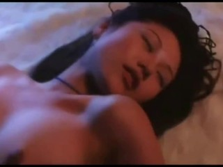 Lesbian scene from a Chinese language film that includes Jane Chun Chang