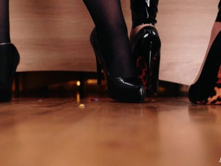 FemDom POV Giantess Video Latex PVC Lesbians Arya Grander