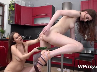 Racy Redheads Experience Pussy And Piss Play