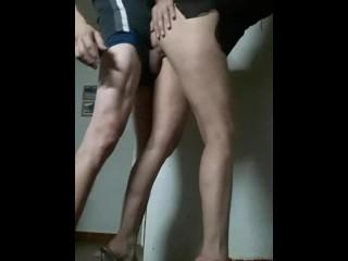 Stunning GABYLOVE Very Slut In Prime Heels And Horny Garments Licks Large Dick Of TONY VERGALARGA And En