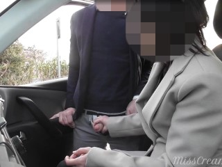 Dogging my spouse in public automobile parking and jerks off an voyeur after paintings – MissCreamy