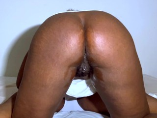Large Ass – Horny Ebony – Pov Blowjob – Give Her a Squirting Orgasm !