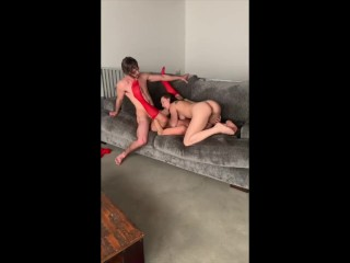 Fortunate dude fucks laborious his naughty spouse and her absolute best buddy