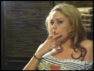 Horny smoking lesbian