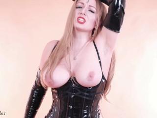 Fetish FemDom POV video of lovely Mistress with sweaty furry armpits