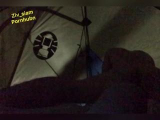 Thai Lady Fucks in Tent whilst Tenting / จุดกางเต็นท์ แตกใน