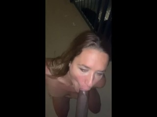 Attractive Blonde love sucking BBC