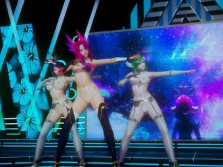 [MMD] BlackPink – Dont Know What to do Strip Vers. Xayah Soraka Syndra three-D Erotic Dance