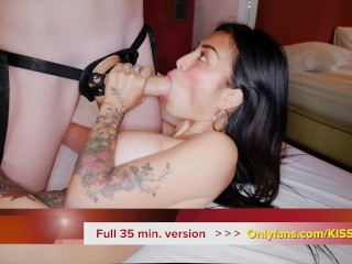 Two Lesbians Having A laugh in Laborious Strapon Intercourse