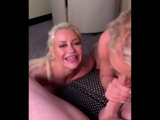 Booty Ass MILF POV Blowjob Large Cock and Cum in Mouth