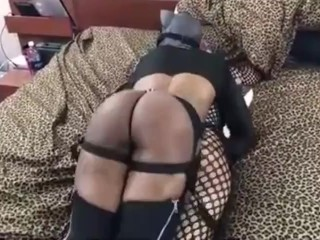 BLAQ KATT POUNDS STRAP ON HER ASS