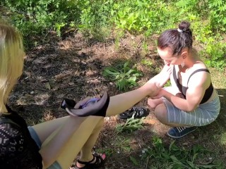Woodland foot worship (TRAILER)