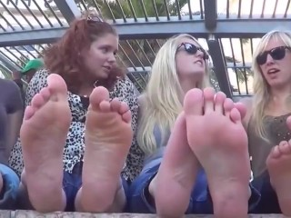 4 newbie girlfriends do away with their displays and show scorching toes down t