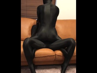 Black zentai women humping