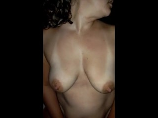 Obese MILF swallow cum after driving dick