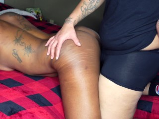 Ebony Lesbian Fast Fuck