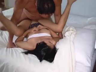Lovely Thai novice spouse cheats on her impotent hubby