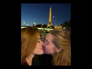 Jia Lissa kissing her lesbian pals compilation