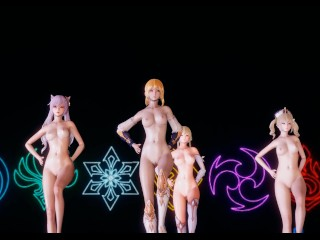 [MMD] Genshin Have an effect on Jean Keqing McGeo Barbara Sizzling Strip Dance 4K UHD 60FPS