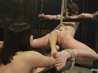 LezDom Fucks Intercourse Slave With Strap On