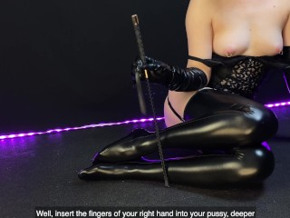 JOI for the women. Mistress tortures slave (English subtitles)