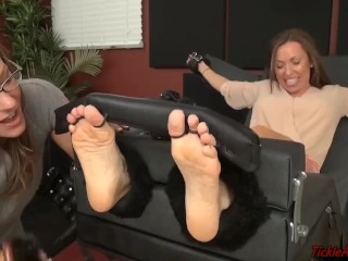 A tickling lesson in class for Nikki