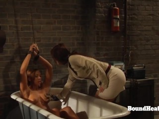Dominant Lesbian Madame Touching And Enjoying With Submissive Slave