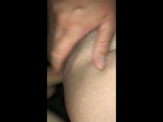BBW shaved tight pussy creampie
