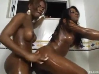 2 BADASS Ebony trans Queens cross lesbian in Bathe
