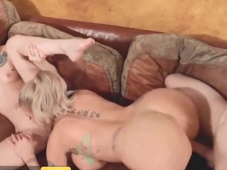 busty blonde joslyn james joins scorching threesome with kiara