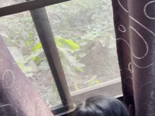 Thai pupil วัยรุ่นไทยเปิดกระจกเย็ดโชว์ คนผ่านมาเห็นคงเงี่ยนจนกลับไปชักว่าว HD 60FPS