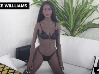 Ebony Intercourse Doll Jiggle Video – YL Dolls 164cm C Cup with Grace Williams Head – LoveDolls Unique