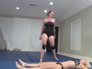 Horny lesbian wrestling