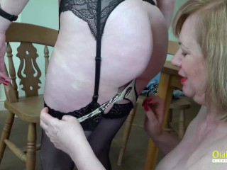 OLDNANNY Two Busty British Matures Masturbating