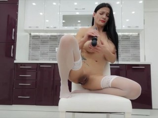 Milf Lilly TRAILER-drinks Spanish fly and had a robust orgazam