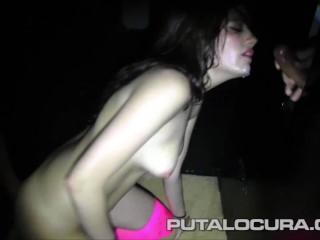 spanish brunette takes 20 cumshots on the gloryhole